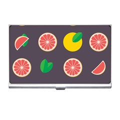 Wild Textures Grapefruits Pattern Lime Orange Business Card Holders by Mariart