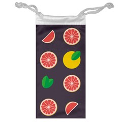 Wild Textures Grapefruits Pattern Lime Orange Jewelry Bag by Mariart