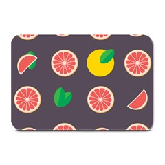 Wild Textures Grapefruits Pattern Lime Orange Plate Mats