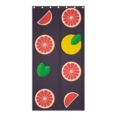 Wild Textures Grapefruits Pattern Lime Orange Shower Curtain 36  X 72  (stall)  by Mariart