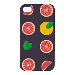 Wild Textures Grapefruits Pattern Lime Orange Apple Iphone 4/4s Hardshell Case by Mariart