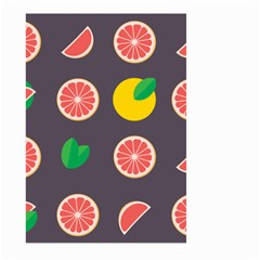 Wild Textures Grapefruits Pattern Lime Orange Large Garden Flag (two Sides) by Mariart