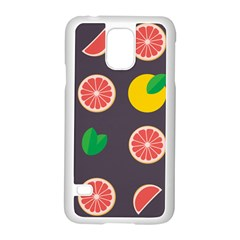 Wild Textures Grapefruits Pattern Lime Orange Samsung Galaxy S5 Case (white) by Mariart