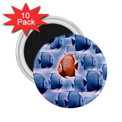 Swim Fish 2 25  Magnets (10 Pack)  by Mariart