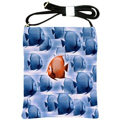 Swim Fish Shoulder Sling Bags by Mariart