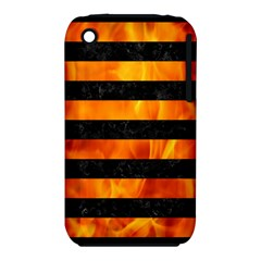 Stripes2 Black Marble & Fire Iphone 3s/3gs by trendistuff