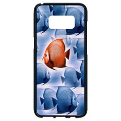 Swim Fish Samsung Galaxy S8 Black Seamless Case by Mariart