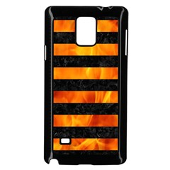Stripes2 Black Marble & Fire Samsung Galaxy Note 4 Case (black) by trendistuff