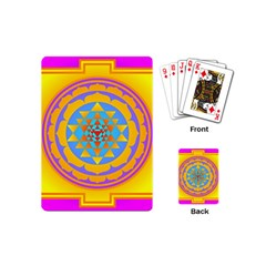 Triangle Orange Pink Playing Cards (mini)  by Mariart