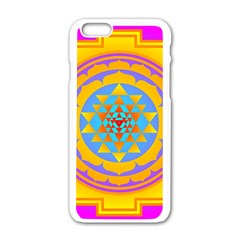 Triangle Orange Pink Apple Iphone 6/6s White Enamel Case by Mariart