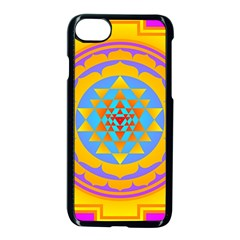 Triangle Orange Pink Apple Iphone 7 Seamless Case (black) by Mariart