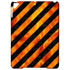 Stripes3 Black Marble & Fire Apple Ipad Pro 9 7   Hardshell Case