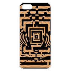 Wooden Cat Face Line Arrow Mask Plaid Apple Iphone 5 Seamless Case (white) by Mariart
