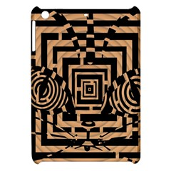Wooden Cat Face Line Arrow Mask Plaid Apple Ipad Mini Hardshell Case by Mariart
