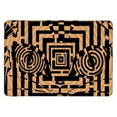Wooden Cat Face Line Arrow Mask Plaid Samsung Galaxy Tab 8 9  P7300 Flip Case by Mariart