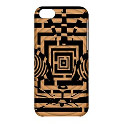 Wooden Cat Face Line Arrow Mask Plaid Apple Iphone 5c Hardshell Case by Mariart