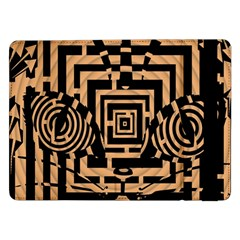 Wooden Cat Face Line Arrow Mask Plaid Samsung Galaxy Tab Pro 12 2  Flip Case by Mariart