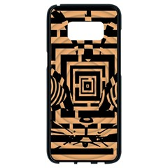 Wooden Cat Face Line Arrow Mask Plaid Samsung Galaxy S8 Black Seamless Case by Mariart