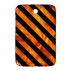 Stripes3 Black Marble & Fire (r) Samsung Galaxy Note 8 0 N5100 Hardshell Case  by trendistuff