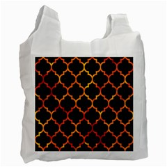 Tile1 Black Marble & Fire Recycle Bag (two Side)  by trendistuff