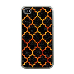 Tile1 Black Marble & Fire Apple Iphone 4 Case (clear) by trendistuff