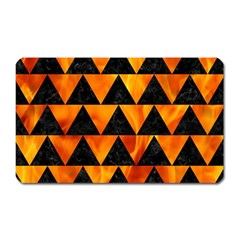 Triangle2 Black Marble & Fire Magnet (rectangular) by trendistuff