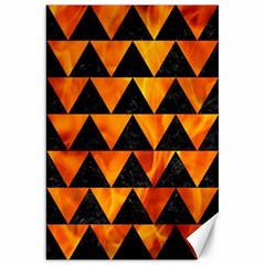Triangle2 Black Marble & Fire Canvas 20  X 30   by trendistuff