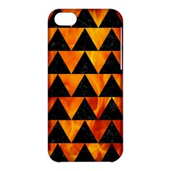 Triangle2 Black Marble & Fire Apple Iphone 5c Hardshell Case by trendistuff