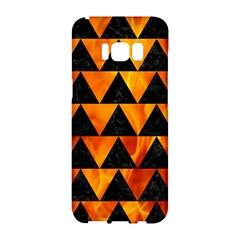 Triangle2 Black Marble & Fire Samsung Galaxy S8 Hardshell Case  by trendistuff
