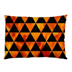 Triangle3 Black Marble & Fire Pillow Case by trendistuff