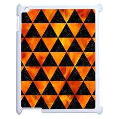 Triangle3 Black Marble & Fire Apple Ipad 2 Case (white) by trendistuff