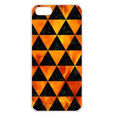 Triangle3 Black Marble & Fire Apple Iphone 5 Seamless Case (white) by trendistuff