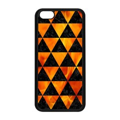 Triangle3 Black Marble & Fire Apple Iphone 5c Seamless Case (black) by trendistuff