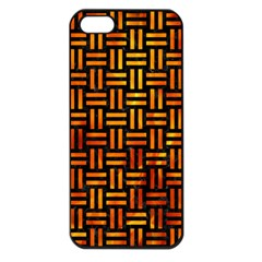 Woven1 Black Marble & Fire Apple Iphone 5 Seamless Case (black) by trendistuff
