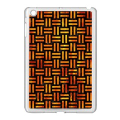 Woven1 Black Marble & Fire Apple Ipad Mini Case (white) by trendistuff