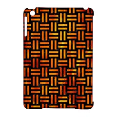 Woven1 Black Marble & Fire Apple Ipad Mini Hardshell Case (compatible With Smart Cover) by trendistuff
