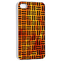 Woven1 Black Marble & Fire (r) Apple Iphone 4/4s Seamless Case (white) by trendistuff