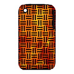 Woven1 Black Marble & Fire (r) Iphone 3s/3gs by trendistuff