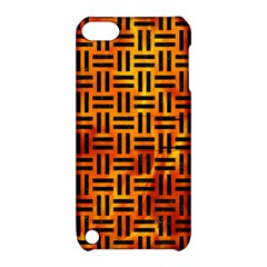 Woven1 Black Marble & Fire (r) Apple Ipod Touch 5 Hardshell Case With Stand by trendistuff