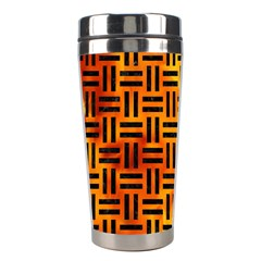Woven1 Black Marble & Fire (r) Stainless Steel Travel Tumblers by trendistuff
