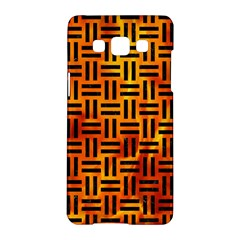 Woven1 Black Marble & Fire (r) Samsung Galaxy A5 Hardshell Case  by trendistuff