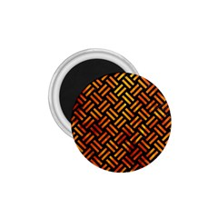 Woven2 Black Marble & Fire 1 75  Magnets by trendistuff