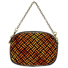 Woven2 Black Marble & Fire Chain Purses (two Sides)  by trendistuff