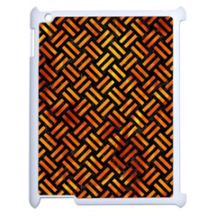 Woven2 Black Marble & Fire Apple Ipad 2 Case (white) by trendistuff