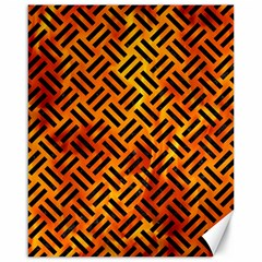 Woven2 Black Marble & Fire (r) Canvas 16  X 20   by trendistuff