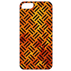 Woven2 Black Marble & Fire (r) Apple Iphone 5 Classic Hardshell Case by trendistuff