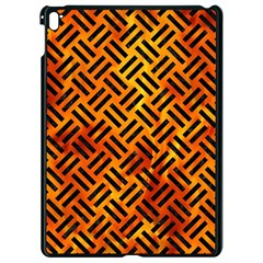 Woven2 Black Marble & Fire (r) Apple Ipad Pro 9 7   Black Seamless Case by trendistuff