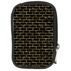 Brick1 Black Marble & Gold Foil Compact Camera Cases by trendistuff