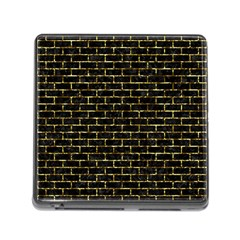 Brick1 Black Marble & Gold Foil Memory Card Reader (square) by trendistuff
