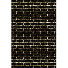 Brick1 Black Marble & Gold Foil 5 5  X 8 5  Notebooks by trendistuff